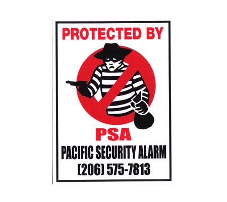 セキュリティ ステッカー PSA(PACIFIC SECURITY ALARM)