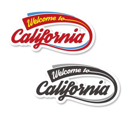 ステッカー Welcome to California Decal ロゴ サイズM