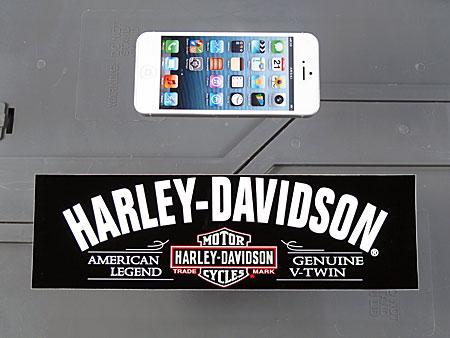 アメリカンバイクブランドバンパーステッカー ハーレーダビッドソン AMERICAN LEGENDのサイズ
