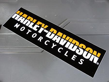 アメリカンバイクブランドバンパーステッカー ハーレーダビッドソン HARLEY-DAVIDSON MOTORCYCLESのアップ