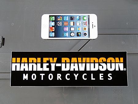 アメリカンバイクブランドバンパーステッカー ハーレーダビッドソン HARLEY-DAVIDSON MOTORCYCLESのサイズ