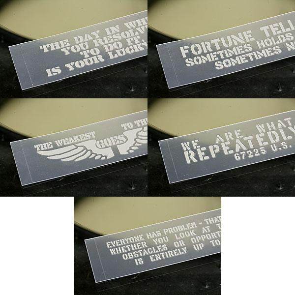 ステッカー車ステンシルステッカー転写タイプ送料無料アメリカンミリタリーカーステッカー5枚セット02