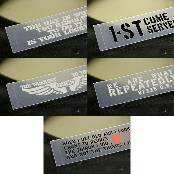 ステッカー車ステンシルステッカー転写タイプ送料無料アメリカンミリタリーカーステッカー5枚セット03