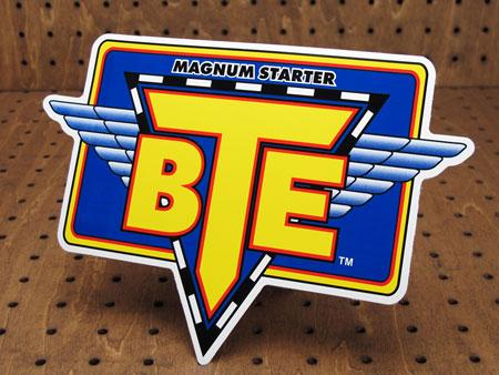 アメリカンパーツブランドステッカー BTE MAGNUM STARTER