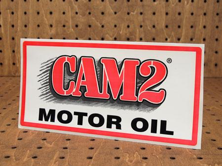 アメリカンオイルブランドステッカー CAM2 MOTOR OIL