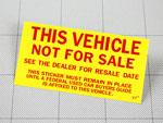 ノットフォーセールステッカー Not For Sale Sticker