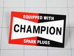 ステッカー チャンピオン CHAMPION スクエア