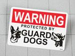 アメリカンサインステッカー 番犬注意