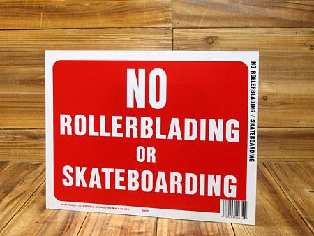サインプレート(案内表示板) ローラーブレード、スケートボード禁止 サイズS