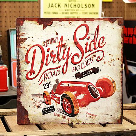 アメリカンインテリアプレート 看板 Dirty Side