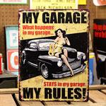 アメリカンインテリアプレート MY GARAGE