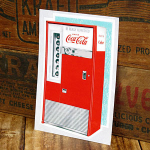 コカコーラステッカー/CC-BA6/Vending Machine