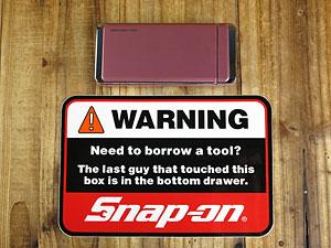 スナップオン(Snap-on)ステッカー/WARNINGの大きさ