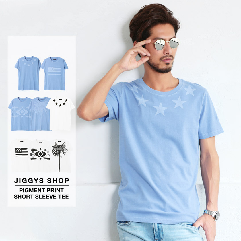 roshell(ロシェル)ピグメントプリント半袖Tシャツ