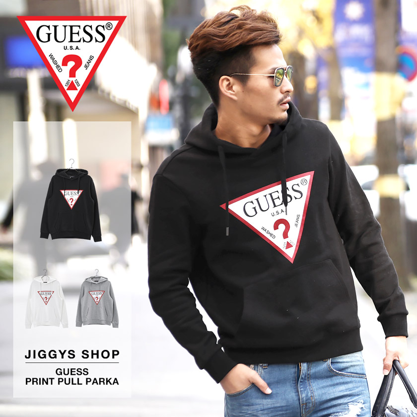 GUESS プリントプルパーカー