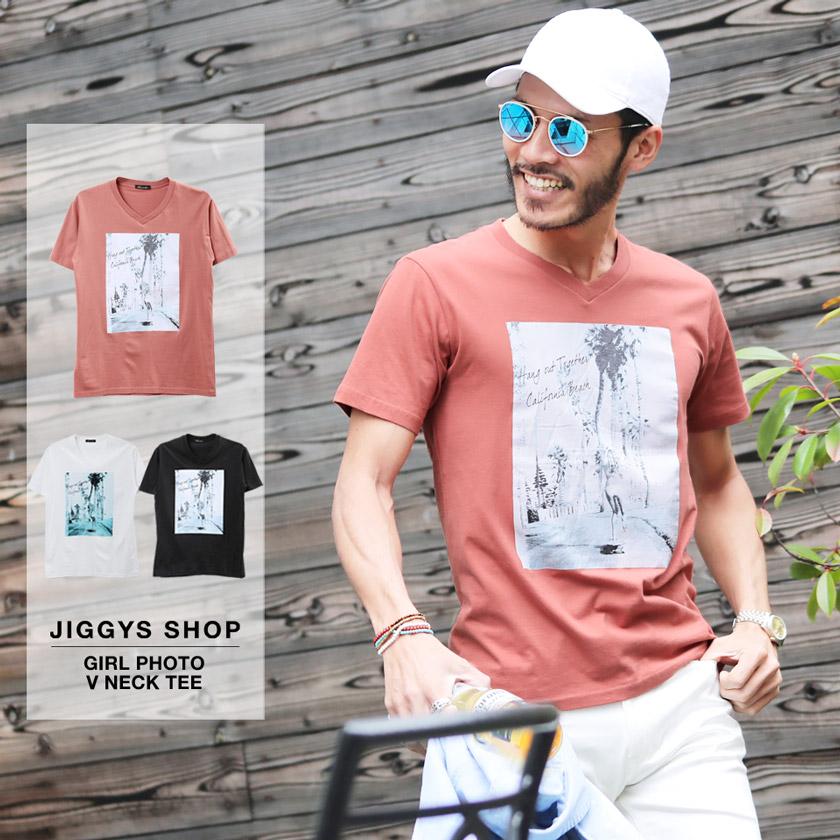 ガールフォトVネックTシャツ