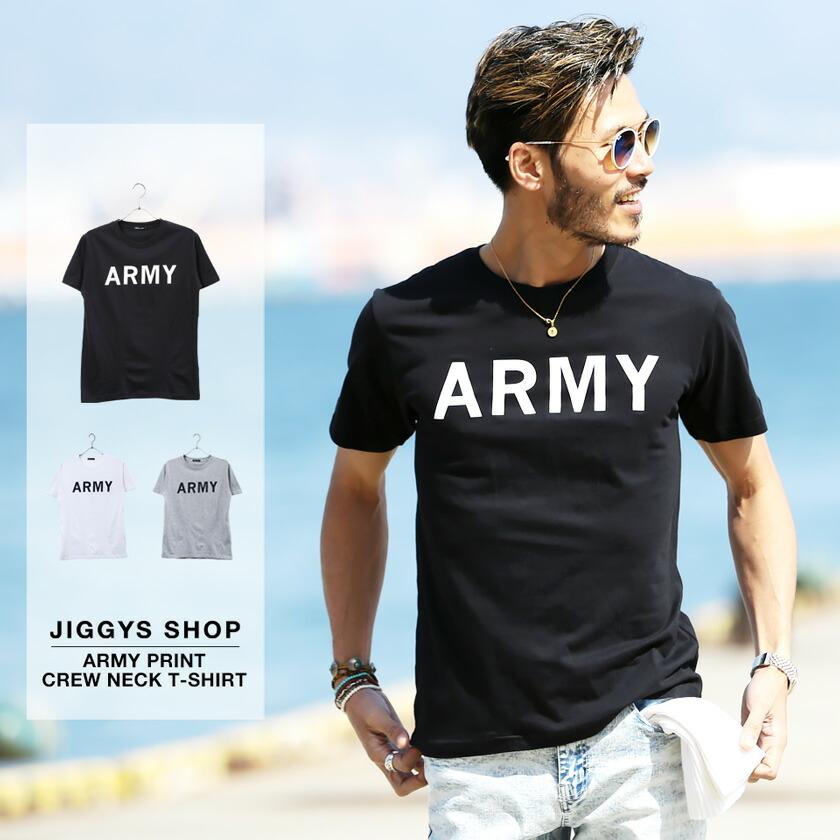ARMYプリントクルーネックTシャツ