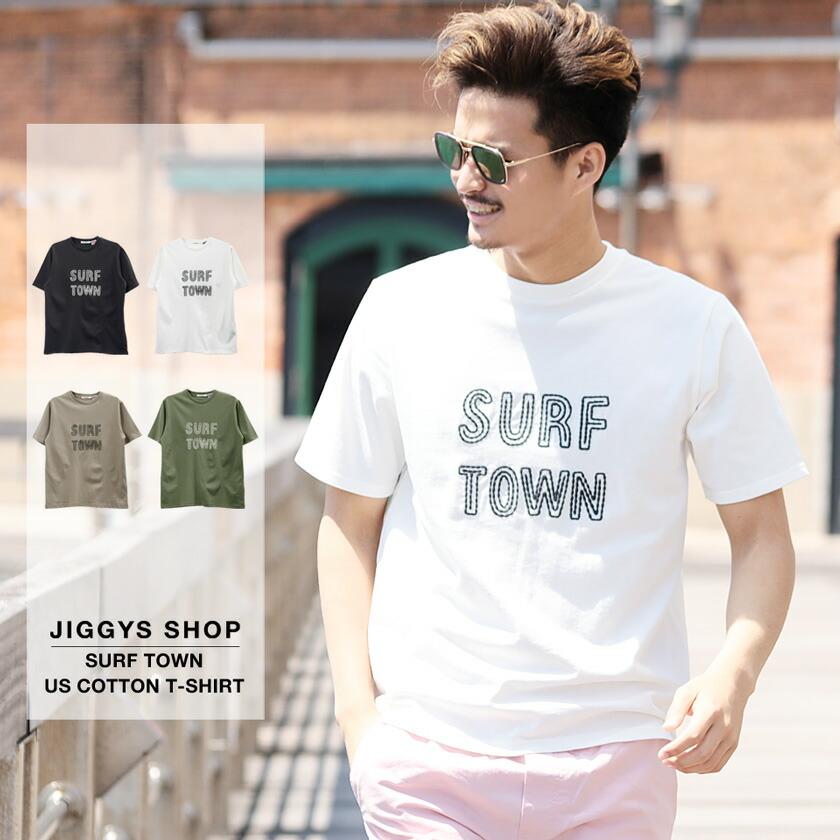 SURF TOWN USコットンTシャツ