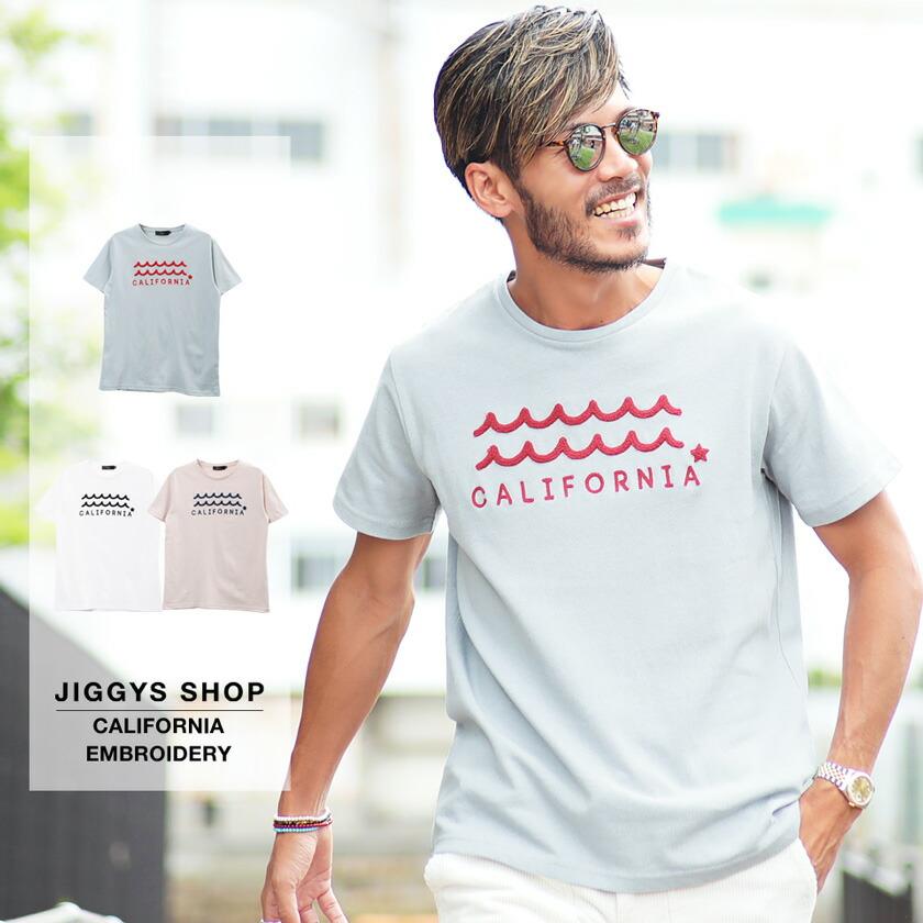 CALIFORNIA刺繍Tシャツ