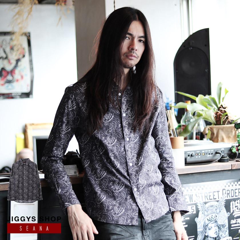 SEANA(シーナ)ブロードペイズリープリントシャツ