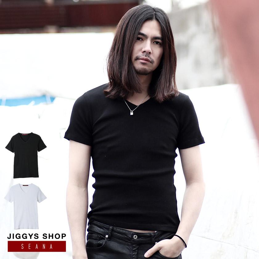 SEANA(シーナ)コットンテレコVネックTシャツ