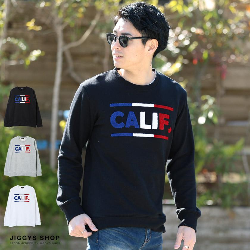 「CALIF」サガラ刺繍トレーナー