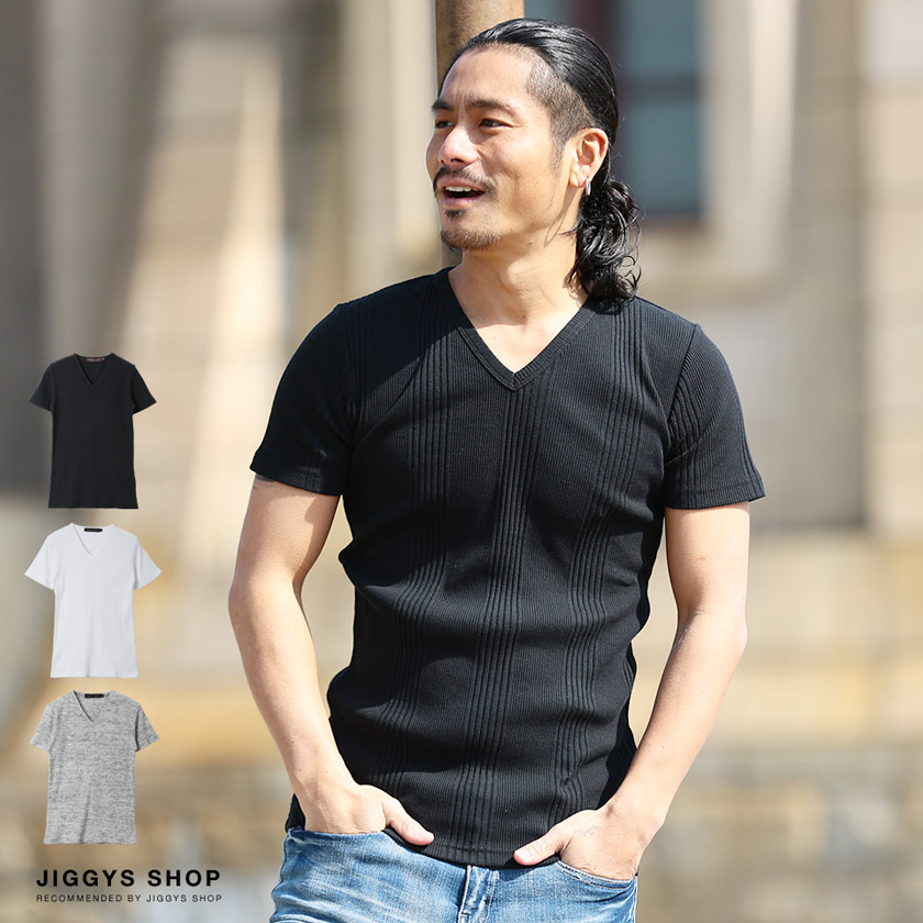 ランダムテレコVネック半袖Tシャツ