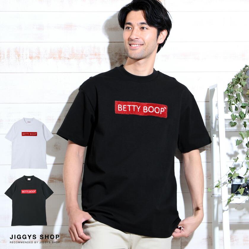 「BETTYBOOP」ロゴクルーネック半袖Tシャツ