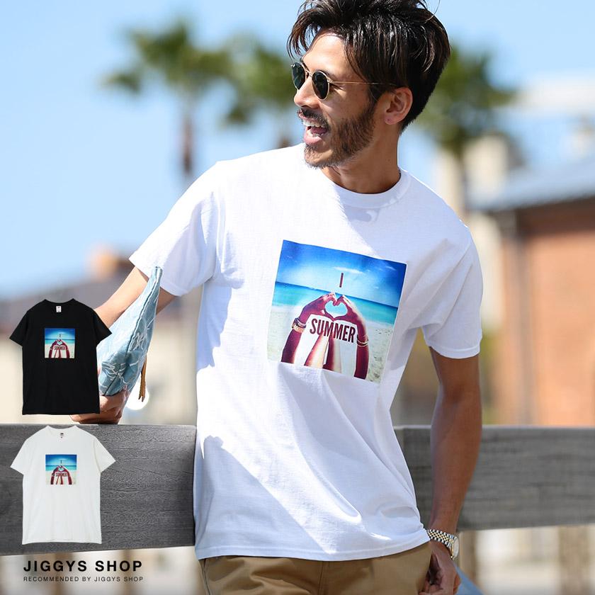 サマービーチFRUITプリントTシャツ