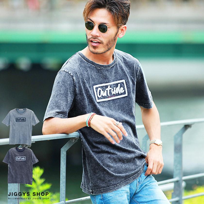 BOXロゴサガラ刺繍インディゴTシャツ
