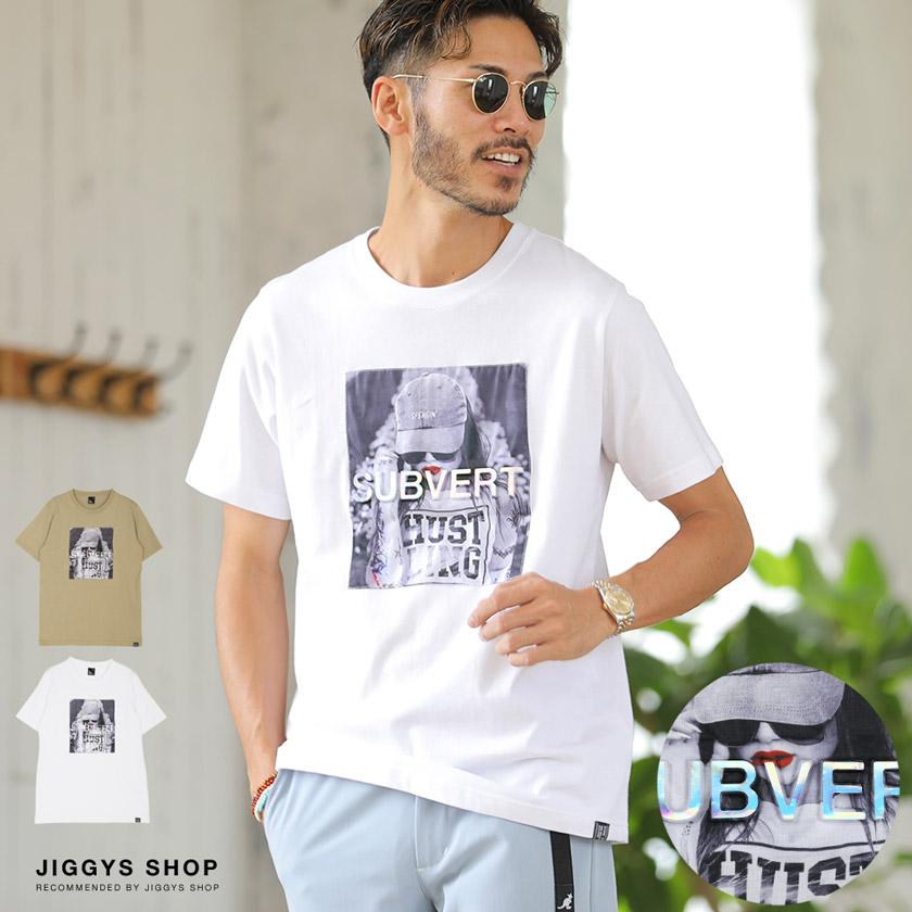 ガールフォトプリントエンボスロゴTシャツ