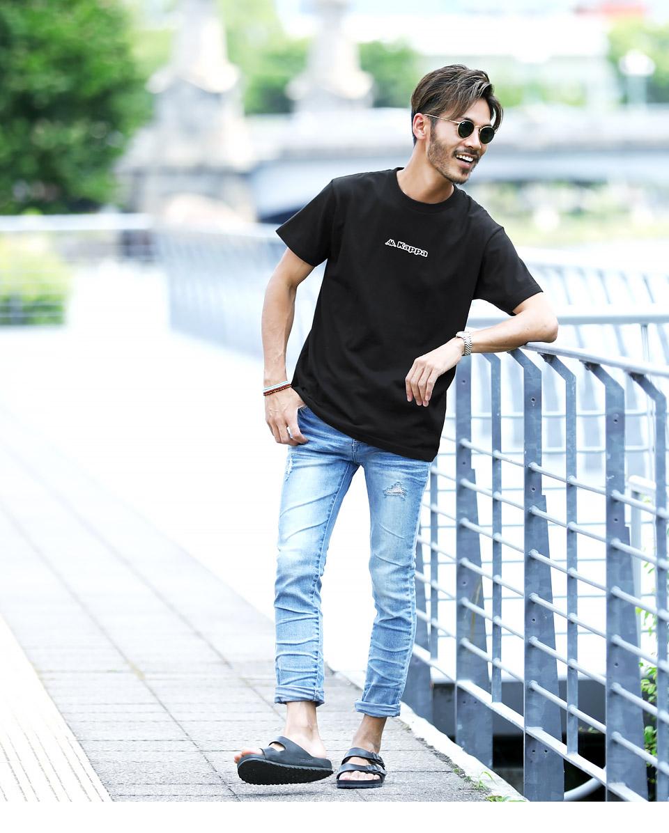 KappaロゴプリントTシャツ