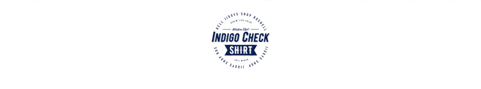 インディゴチェックシャツ