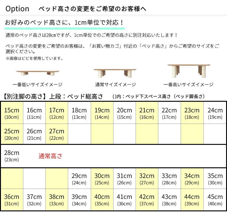ベッド高さ表