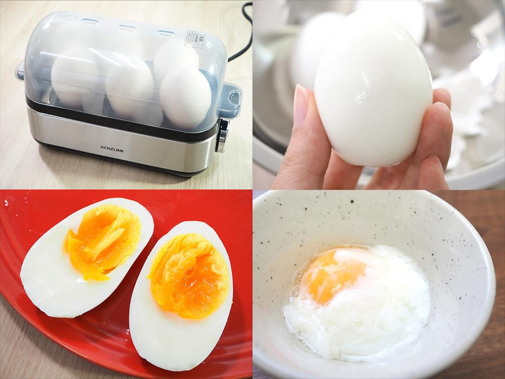 スチーマー コイズミ エッグ ゆでたまごが簡単に作れる!コンパクトサイズのエッグスチーマー|試用レポート