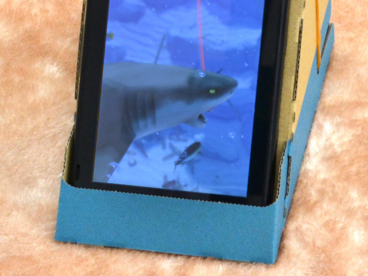 サメを釣り上げている様子