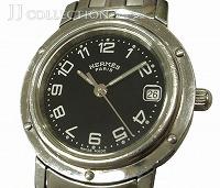 レディース腕時計 クリッパー SS クオーツ ブラック文字盤