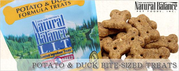 [ナチュラルバランス/Natural Balance]ポテト&ダック トリーツ(アレルギー対応クッキー)