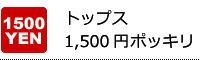 トップス1,500円ポッキリ