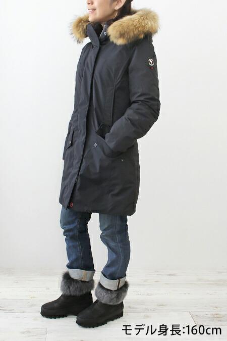 capehorn モッズダウンジャケット ブラック  モデル画像 表