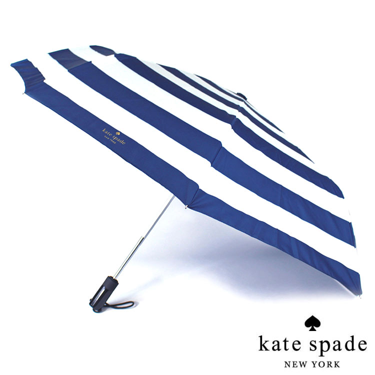 Kate Spade ジュビリー ストライプ トラベル アンブレラ