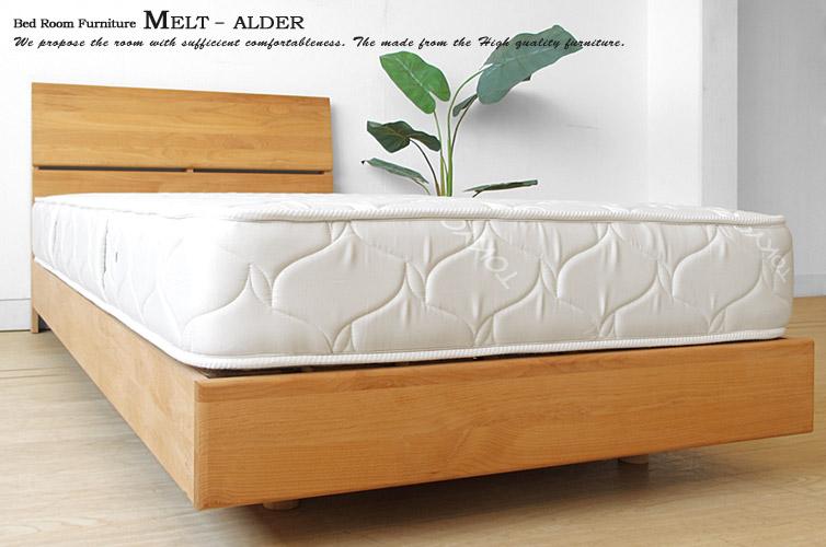 アルダー無垢材を使用したナチュラルテイストでかわいい国産すのこベッド