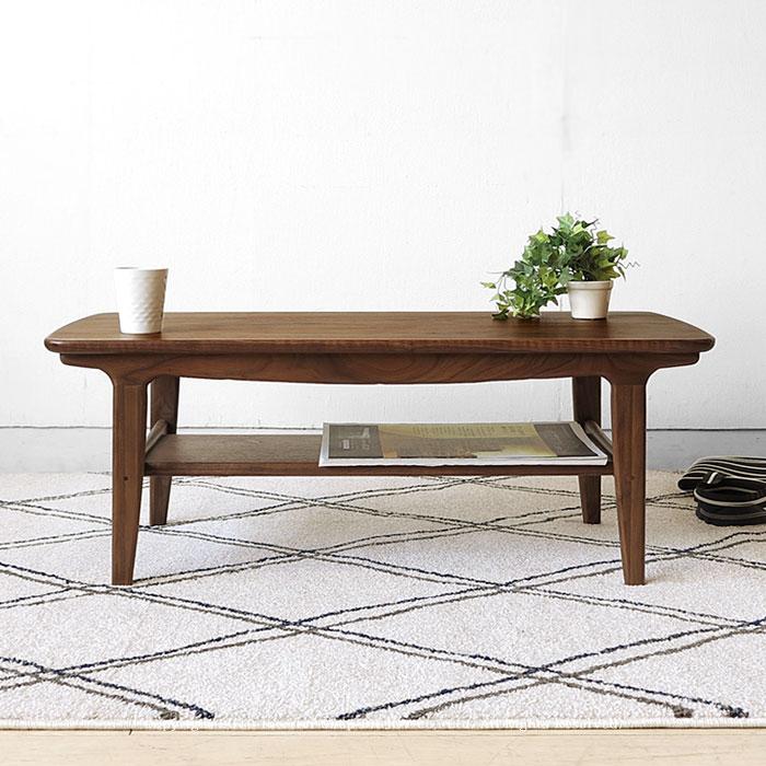 柔らかなデザインのセンターテーブル