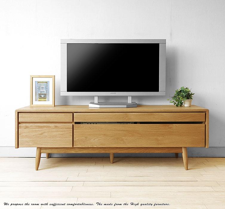 ナラ材の北欧テレビボード