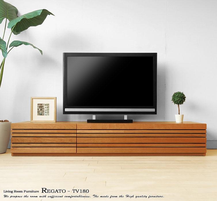 ブラックチェリー材無垢材を使用したオシャレなテレビ台