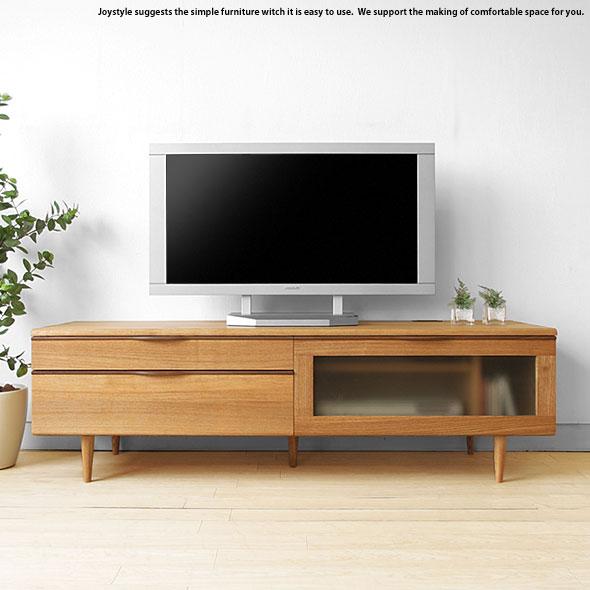 タモ無垢材を使用した北欧モダンデザインのテレビボード