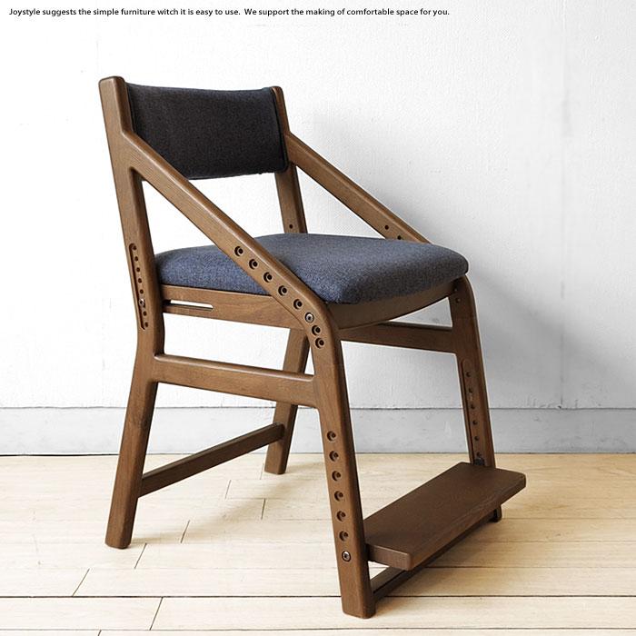 ナラ材の勉強椅子