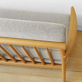slim wooden frame - Wood Frame Sofa With Cushions