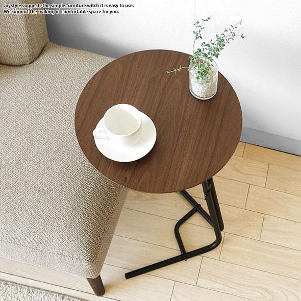 アメリカンウォールナット材突板とブラックスチールを組み合わせた2WAYテーブル