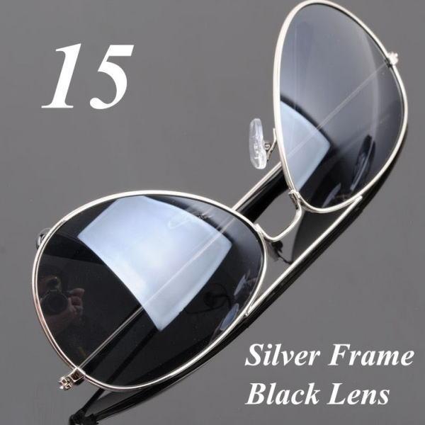 サングラス アビエイター デザイナーズ ファッションサングラス UV400 カラー:シルバーフレーム/ブラックレンズ アイウエアー メガネ 今だけ!送料無料 【在庫限品】即納です。